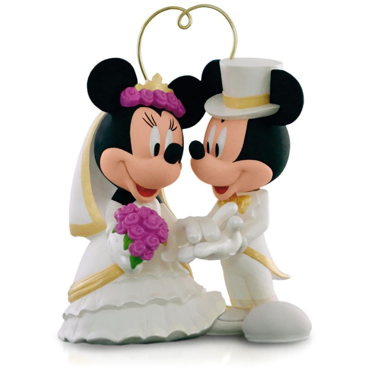 Topo de Bolo Mickey e Minnie Delicado