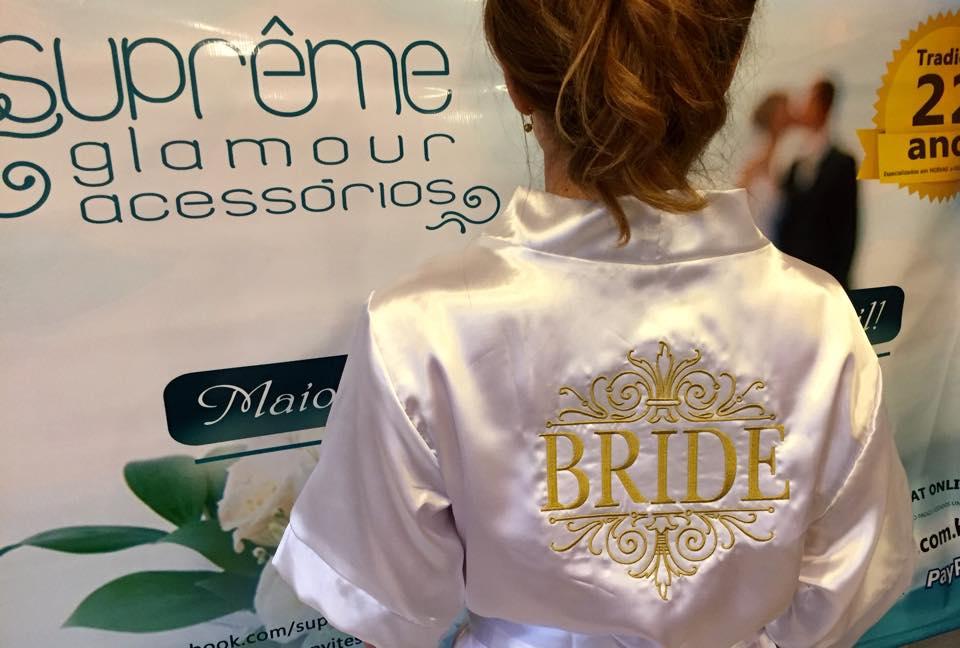 Robe Personalizado Bride Branco