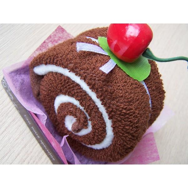 Rocambole Toalha Chocolate Cereja - Lembrança de Casamento