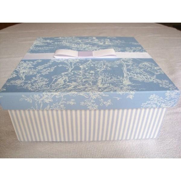 Caixa para madrinha de casamento - Azul do Céu