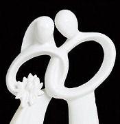 Topo para Bolo - Aliança de Amor Verdadeiro