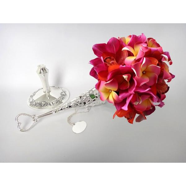 Porta Bouquet Silver com base