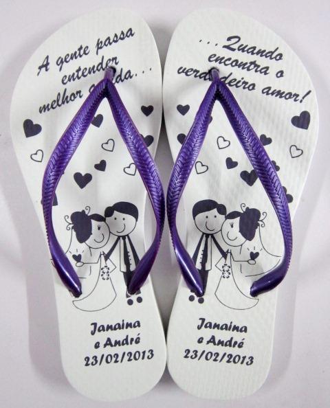 Chinelo para casamento - Personalizado Noivinhos 04