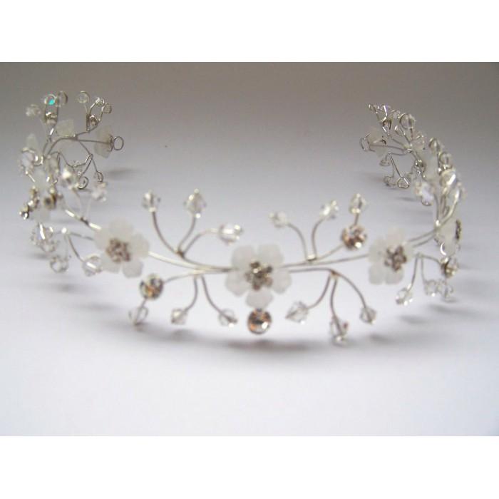 Tiara para noiva - casamento - Floral