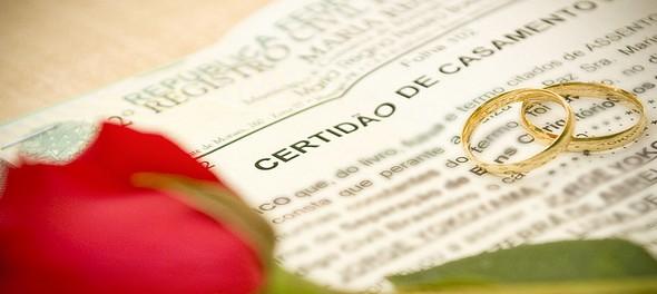 Acessórios para casamento - Porta-Certidão de casamento Chrome