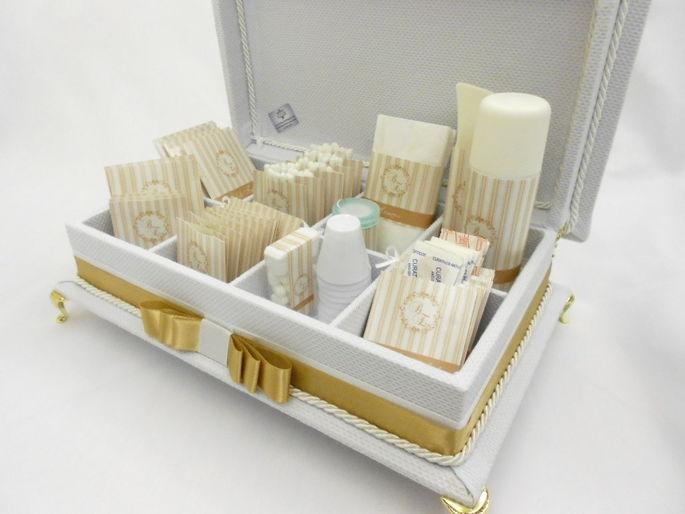 Caixa de toalete - kit de casamento - Luxuoso