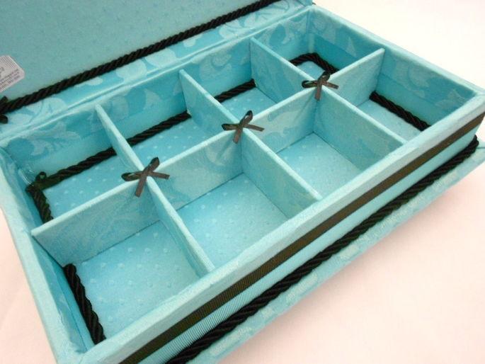 Caixa de toalete - kit de casamento - Tiffany