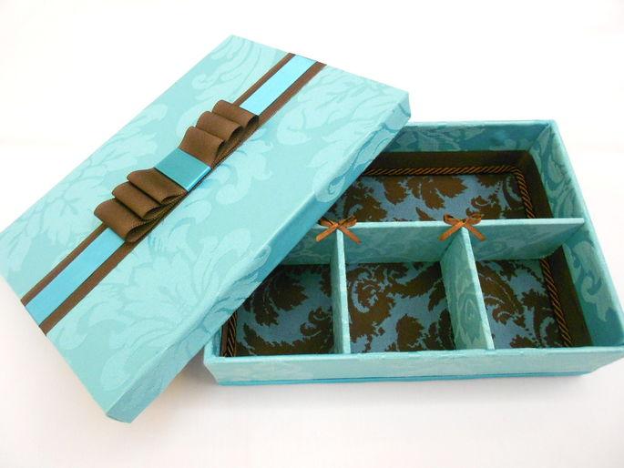 Caixa para padrinhos de casamento - Chandon Tiffany