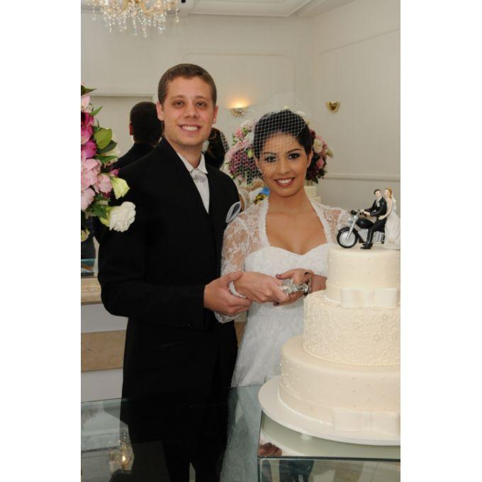 Faca e Espátula para Bolo de Casamento - Spring