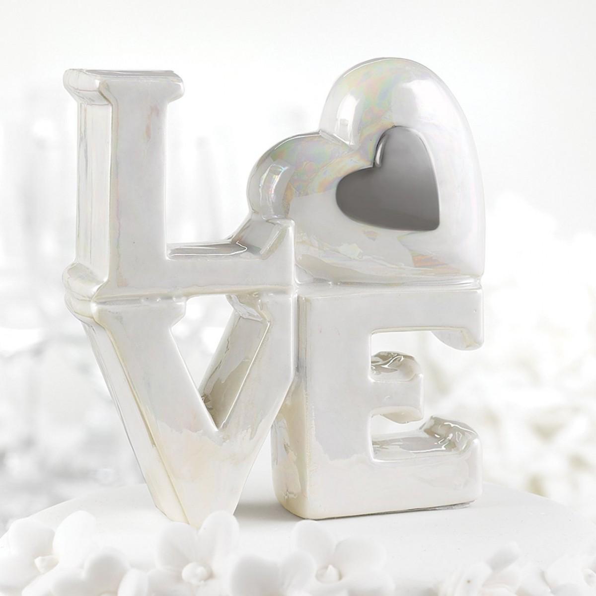 Topo para Bolo - Porcelana Love