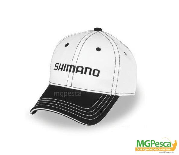 Boné Shimano AHAT100CWH - Branco  - MGPesca