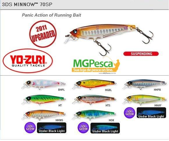 Isca Artificial Yo-Zuri 3DS Minnow 70SP - F962  - MGPesca