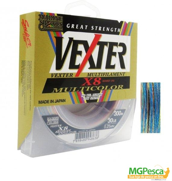 Linha  Marine Sports Multifilamento Vexter X8 Multicolor  - MGPesca