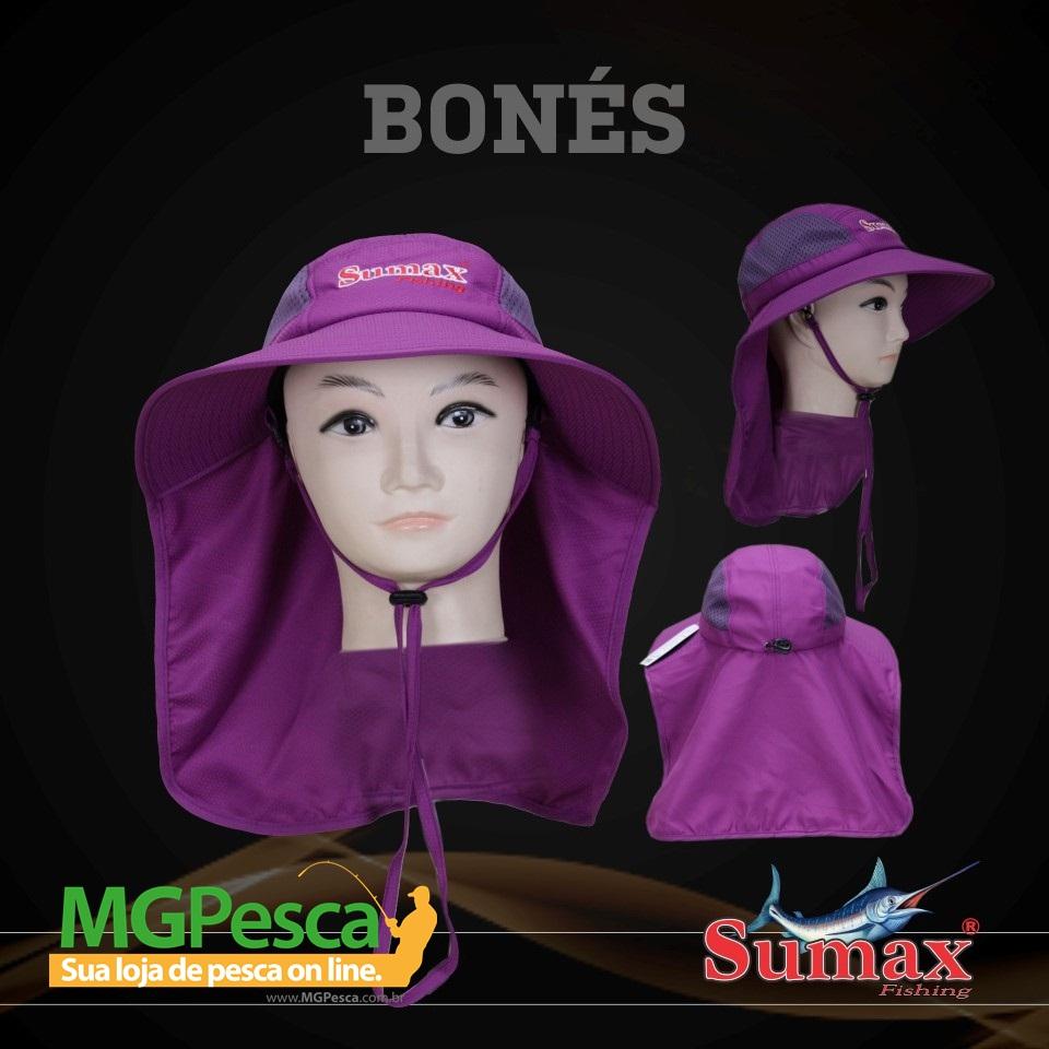 Chapéu Sumax com proteção UV e protetor de ombros - SB-1306L  - MGPesca