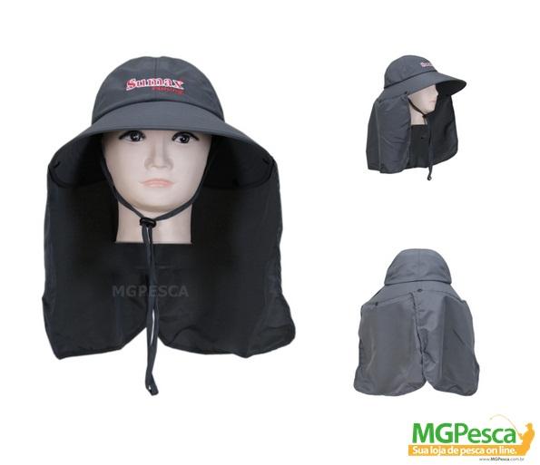 Chapéu Sumax com proteção UV e protetor de ombros - SB-1307C  - MGPesca