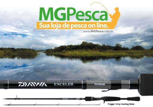 "Vara Daiwa Exceler 6"" (1,83m) 17lbs - EXE602MFB - 02 partes  - MGPesca"