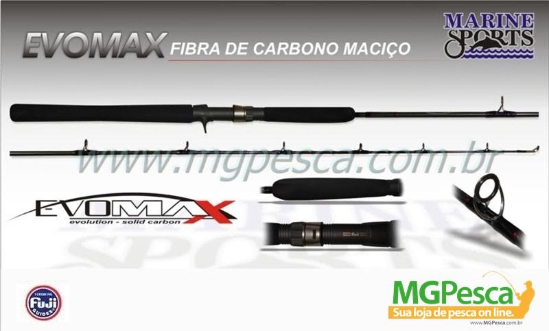"""Vara para carretilha Marine Sports Evomax 6"""" (1,83m) 80 Lbs - EM-C601XH  - MGPesca"""