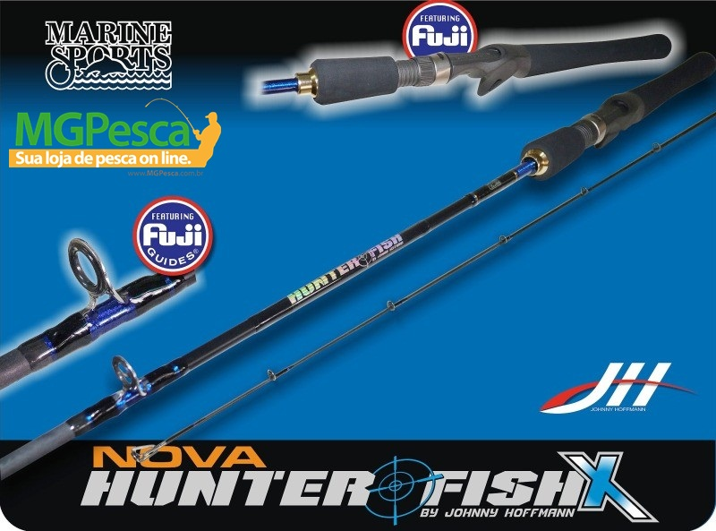 "Vara Marine Sports Hunter Fish X 5´9"" (1,80m) 30lbs - HFX-C591MH  - MGPesca"