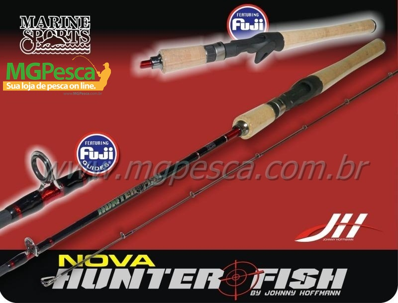 "Vara Marine Sports Hunter Fish 5´6"" (1,68m) 20lbs - Cabo de Cortiça - HF-C561M  - MGPesca"