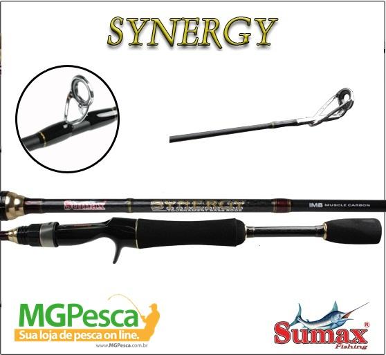 """Vara Sumax Synergy 5´6"""" (1,68m) 12lbs - SSG-561MLC  - MGPesca"""