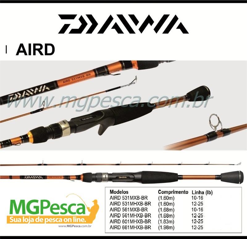 """Vara Team Daiwa Aird 5´6"""" (1,68m) 16Lbs - AIRD561MXB-BR  - MGPesca"""