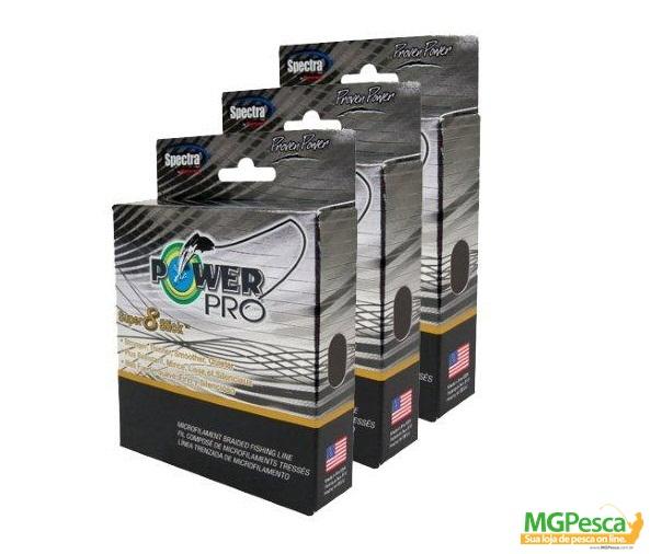 Linha Multifilamento Power Pro Super 8 Slick 20Lb - 300YDS  - MGPesca