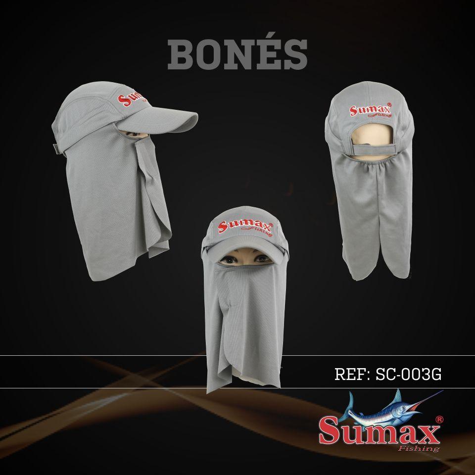Boné Sumax com proteção UV e protetor de nuca, orelha e face(removíveis) - SC-003G  - MGPesca