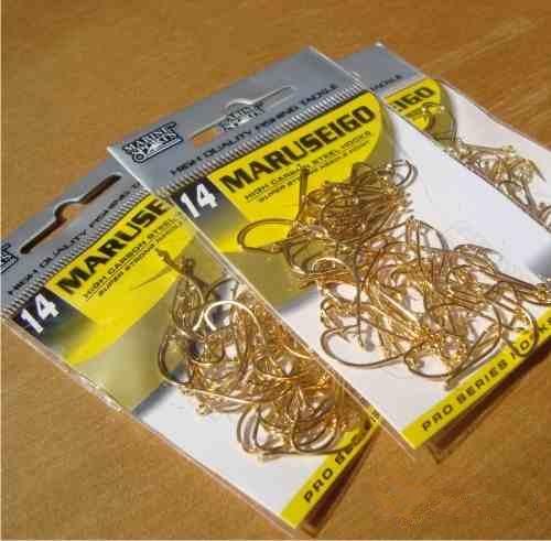 Anzol Marine Sports Maruseigo Gold - 06 - 08 - 10 - 12 - 14 - 16 - 18 - Pacotes com 50 unidades  - MGPesca