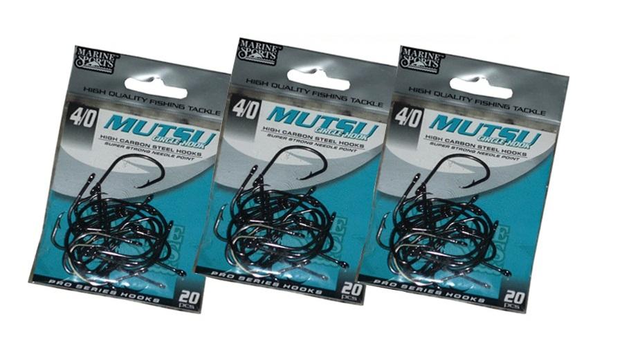 Anzol Marine Sports Mutsu Circle Hook - 3/0 - 4/0 - 5/0 - 6/0 - Pacotes com 20 unidades  - MGPesca