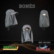 Boné Sumax com proteção UV e protetor de nuca, orelha e face(removíveis) - SB-1303