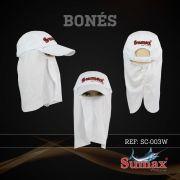 Boné Sumax com proteção UV e protetor de nuca, orelha e face(removíveis) - SC-003W