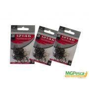 Anzol Marine Sports 12146 Black Nickel - Tamanhos 12 - 10 - 08 - 06 - 04 - 02 - 01 - 1/0 - 2/0 - com 50 unidades
