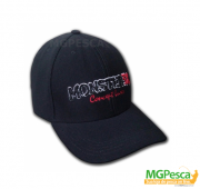 Boné Monster 3X Confort Line - Regulável - Preto