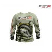 Camisa Monster 3X - Fish Collection - Black Bass
