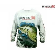 Camisa Monster 3X - Fish Collection - Tucunar� Azul