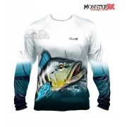 Camisa Monster 3X - New Fish Collection - Tucunaré Azul