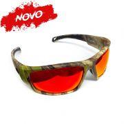 Óculos Polarizado Monster 3X Black Monster Amazon - Lente Vermelha