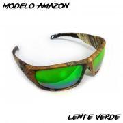 Óculos Polarizado Monster 3X Black Monster Amazon - Lente Verde