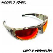 Óculos Polarizado Monster 3X Black Monster River - Lente Vermelha