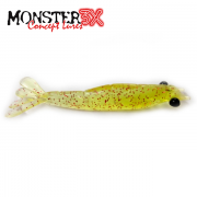 Isca Artificial Monster 3X Camarão Ultrasoft 8,5cm Cor 020 RED CHA