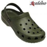 Babuche Crocs Scaleno Preto - Azul - Verde Militar