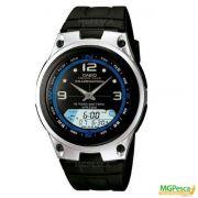 Relógio Casio Fishing Gear - Pesca E Fases Da Lua - Pulseira de borracha fundo preto - AW-82
