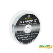 Linha Platinum xt 100m - 0,25mm - 19,8lbs - Ottoni