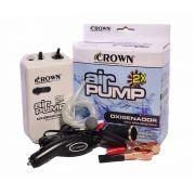 Aerador / Oxigenador Crown Air Pump AP 3502 com dois Adaptadores Elétricos - Ideal para as Iscas Vivas