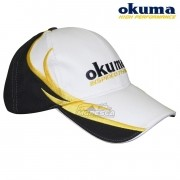 Boné Okuma Inspired Fishing Branco com Preto