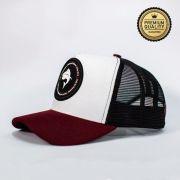 Boné Vida de Pescador - Premium Red Black BPM 005