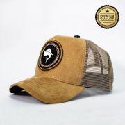 Boné Vida de Pescador - Premium Sued Bege BPM 002