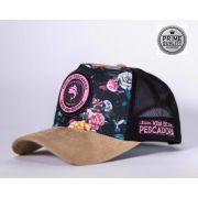 Boné Vida de Pescadora - Prime Pink Flower BPR 001