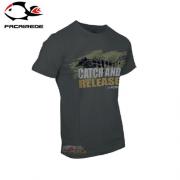 Camiseta Casual Faca na Rede Pesque e Solte Chumbo - Lançamento