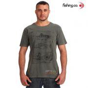 Camiseta Fishing co. Casual Anatomia Verde Escuro Ref. 1093